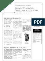 CRITERIOS DE EVALUACIÓN 4ESO