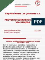 Aplicacion de Concreto Lanzado Proyecto Optimizacion y Mecanizacion en Um Iscaycruz
