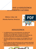 CÓMO SE VIVE LA ADOLESCENCIA EN DIFERENTES CULTURAS