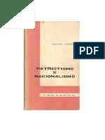 Gustavo Corção, Nacionalismo e Patriotismo