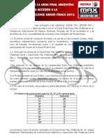 Reglamento Para Acceder a La Gran Final Rotax 2012