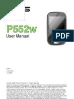 ASUS P552w Manual