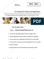 Student Financial Assistance Guide and Application