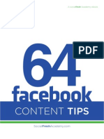 64 Facebook Status Update Tips