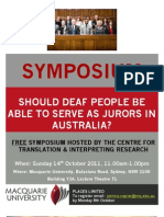Should deaf people be able serve as jurors in Australia?