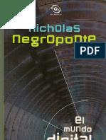 El Mundo Digital. Nicholas Negroponte