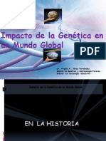 Impacto de La Genetica en Un Mundo Global
