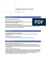 North Sac Crime Activity Log (Sept 11, 2012 – Sept 17, 2012)
