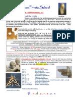 Trip Notice - 12-9-14 Dead Sea Scrolls (Anderson Private School)