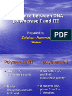 difference b/w DNA polymerase I and III by DR ZAIGHAM