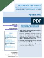 Reporte N°102 - Agosto_2012