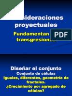 Consideraciones proyectuales