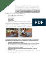 Zest Project Commercial Agrculture Project Progress Report-brian m Touray - Zest Project Manager