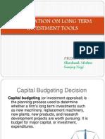 Capital Budgeting Tools