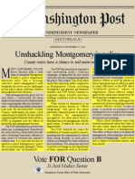 Montgomery County Executive Ike Leggett's Washington Post Flyer Opposing Police Union