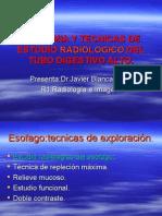 Anatomia y Tecnicas de Estudio Radiologico Del Tubo Digestivo