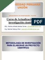 Metodologia de La Investigacion Para Desarrollar Proyectos de Investigacion