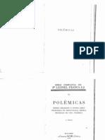 Leonel Franca, Polemicas