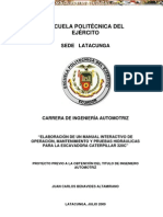 Manual Operacion Mantenimiento Excavadora Hidraulica 320c Caterpillar