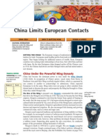 Ch 19 Sec 2 - China Limits European Contacts
