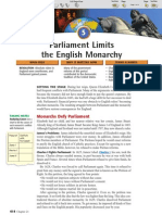 Ch 21 Sec 5 - Parliament Limits the English Monarchy