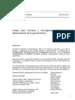 NCh0165_Of77 Áridos para morteros y hormigones - Tamizado y determinación de la granulometría