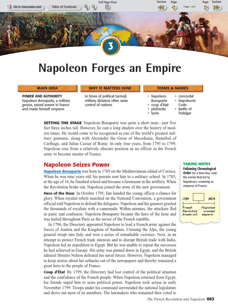 Ch 23 sec 3 napoleon forges an empire first french empire ch 23 sec 3 napoleon forges an empire first french empire napoleon robcynllc Image collections
