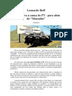 Leonardo Boff sobre o Mensalão, as Elites e o PT