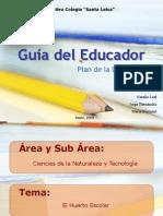 planificacion huertos escolar