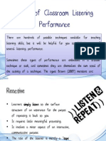 Types of Listening Performance