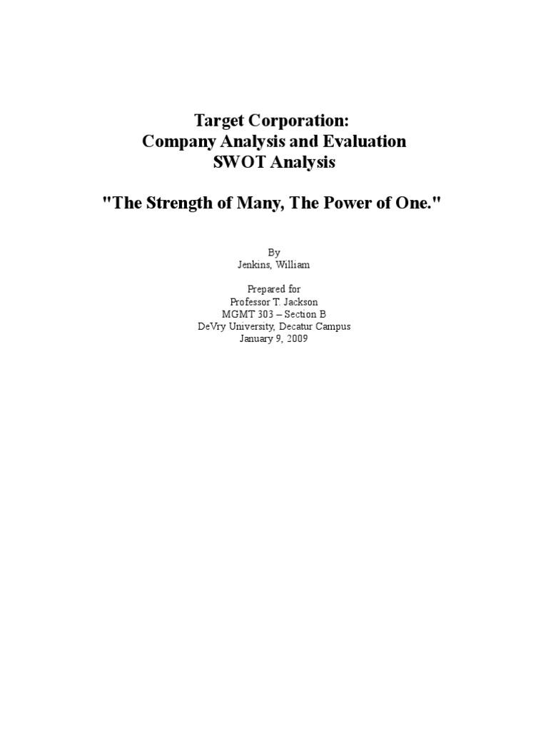 target corporation swot