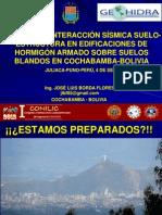 EFECTOS DE INTERACCIÓN SÍSMICA SUELO-ESTRUCTURA EN EDIFICACIONES DE HORMIGÓN ARMADO SOBRE SUELOS BLANDOS EN COCHABAMBA-BOLIVIA