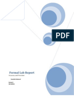 Formal Lab Report Accuracy and Pecision