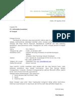 Application Letter Email Kediri Cil