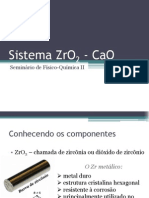 seminário físico-química 2 _Sistema ZrO2 - CaO