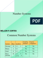 MELJUN CORTES Number Systems