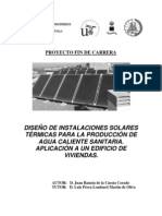 AGUA SANITARIA CALIENTE (ENERGIA SOLAR TERMICA)