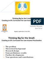 Thinking Big for the Small Ppt Sep13 2012