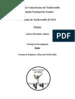 71658851 CNGFCT II 11 INV 03 Andrey Hernandez Normas de Etiqueta y Etica Del TaeKwonDo