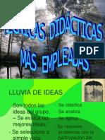 CLASE 17 - TÉCNICAS DIDACTICAS EMPLEADAS