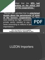SEN. Guingona's findings on rice cooperatives