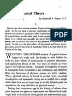 Nogar, Toward a Physical Theory,