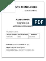 Unidad 2 Matrices y Determinantes