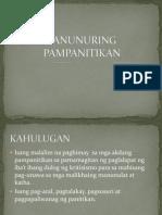 PANUNURING+PAMPANITIKAN