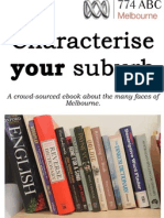 Characterise Your Suburb - 774 ABC Melbourne Get Reading competition entries