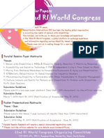 22nd RI World Congress_Call for Papers