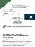 Normele Metodologice de Aplicare a Legii 319 Din 2006