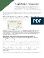 12 Principles of Agile Project Management