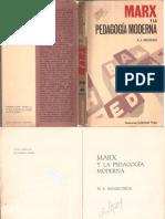 Marx y la pedagogía moderna (M.A. MANACORDA)