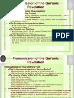 2 Transmission of the Qur Anic Revelation